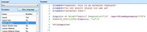 """""""Imporet""""Code Generierungs Template für"""