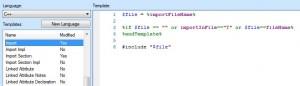 Code Generierungs Template für das Importieren von Libraries