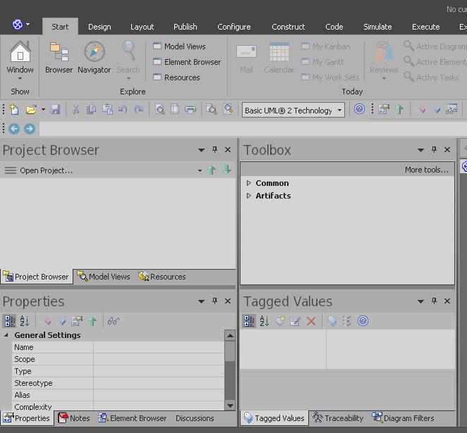 Basic Configuration Workspace Ea 13 Enterprise