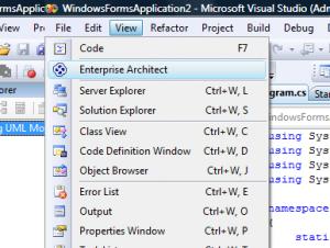 EA Explorer in Visual Studio starten