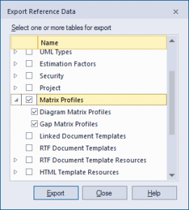Export Reference Data