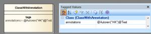 Java Annotationen im Modell als Tagged Value
