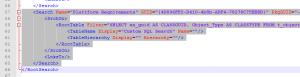 Copy & Paste der XML Struktur einer Suchabfrage.