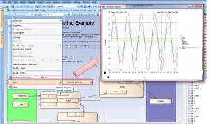 Simulation eines Parametric Diagram (Zusicherungsdiagramm)