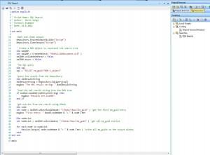 VB Script für SQL Suche
