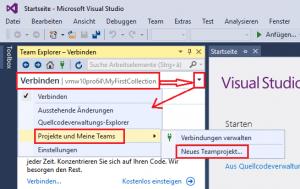 Create new TFS Team Project using Visual Studio – Enterprise