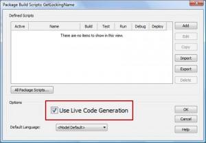 Live Code Generation bis EA 8.0
