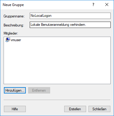 lokaler benutzer windows 10