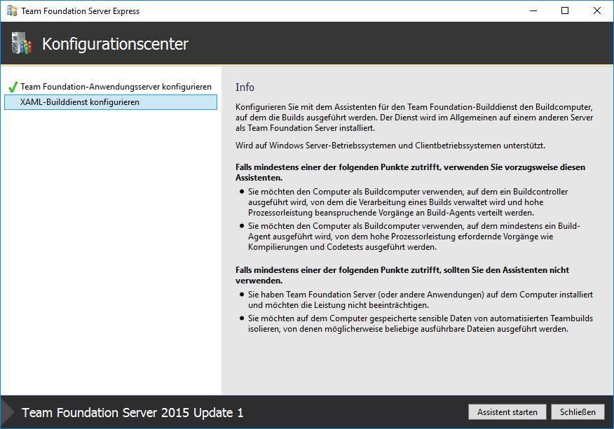 Setup Team Foundation Server (TFS) 2015 Express – Enterprise
