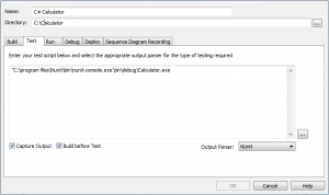 Test-Script configurieren
